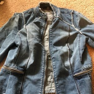 INC women's peplum jacket with rivets
